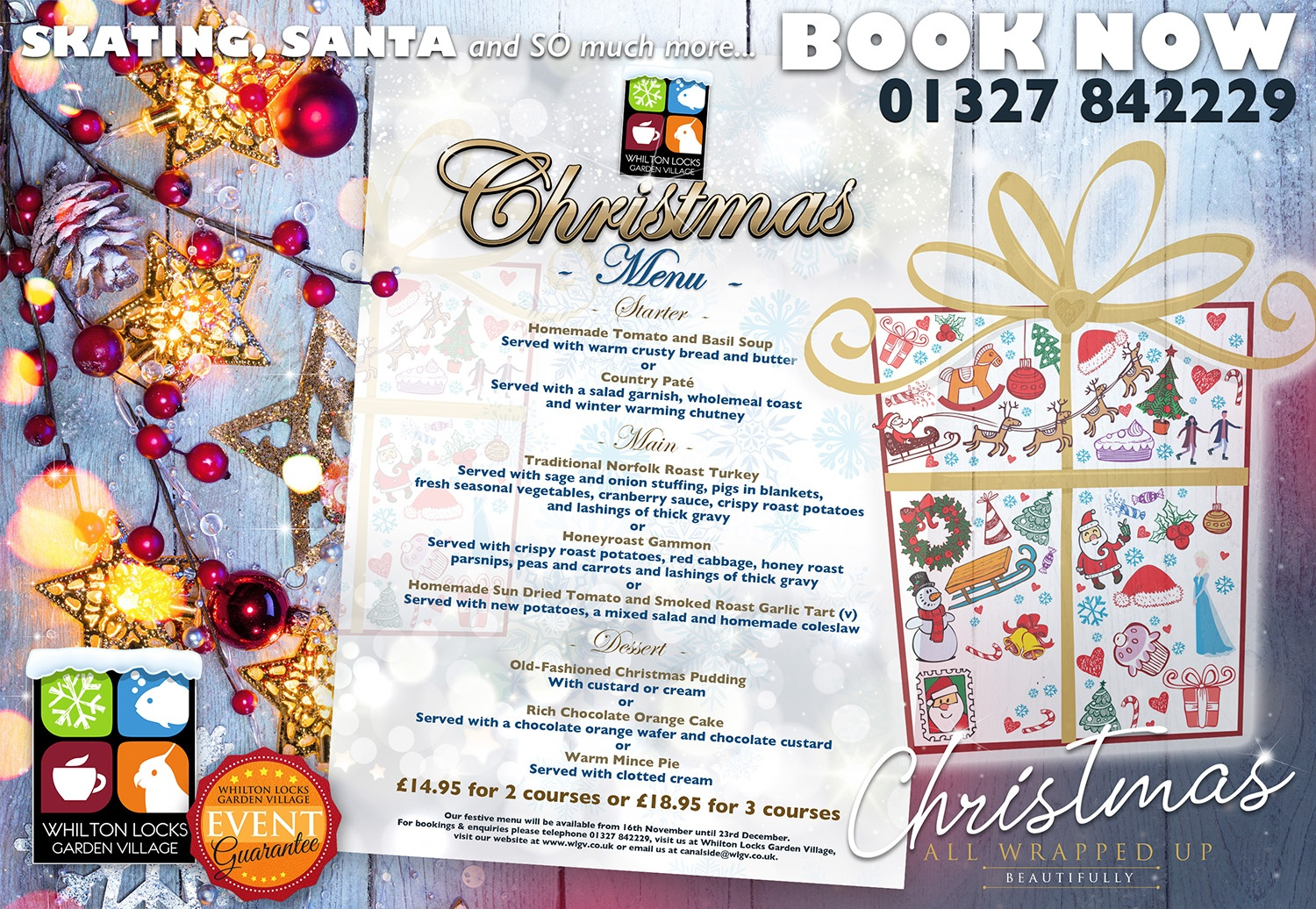 christmas menu northamptonshire 2020